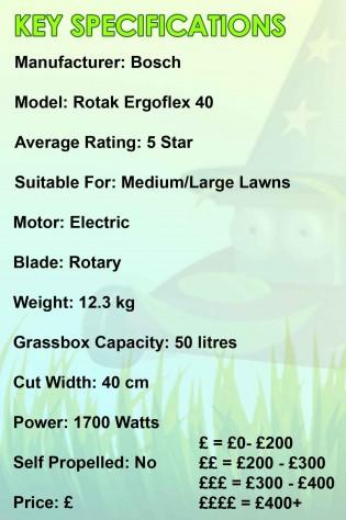 Bosch Ergoflex 40 Spec Image