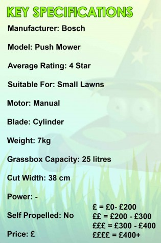 Bosch Push Mower Spec Image
