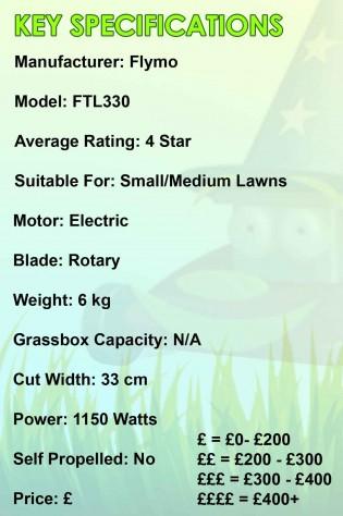 Flymo FTL330 Spec Image