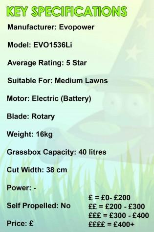 Evopower EVO1536Li Spec Image