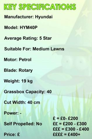 Hyundai HYM40P Spec Image