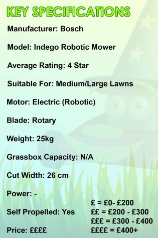 Bosch Robotic Mower Spec Sheet