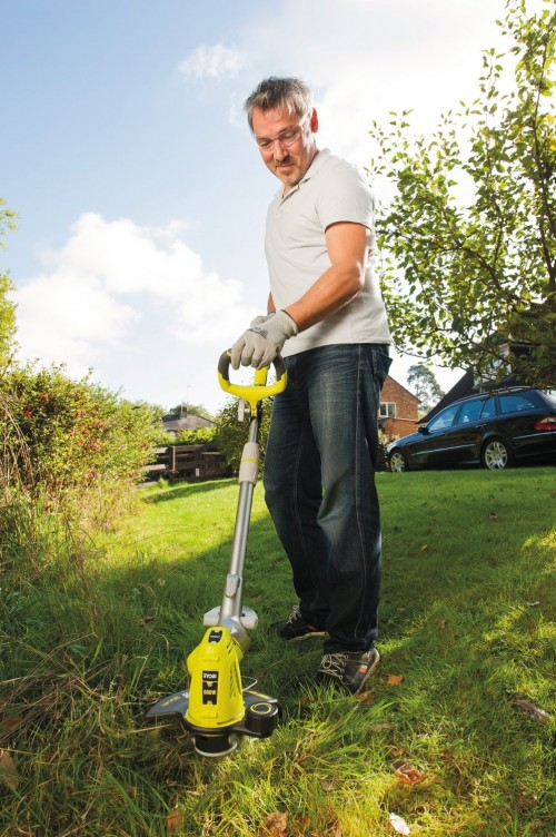 Man Strimmer Lawn Mower Wizard