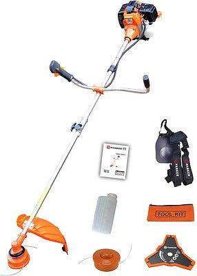 Grass Trimmer Garden Strimmer Brush Cutter Petrol 52cc 2 x Strimmer Line
